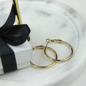 Kolczyki ze stali chirurgicznej – Złote Wiszące Kolczyki Koła