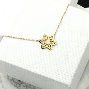 Naszyjnik Celebrytka ze stali chirurgicznej – Złoty Naszyjnik Gwiazda