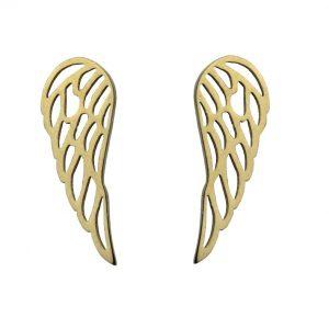 Kolczyki ze stali chirurgicznej – Złote Kolczyki Skrzydła