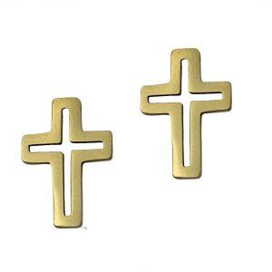 Kolczyki ze stali chirurgicznej – Złote Kolczyki Krzyże