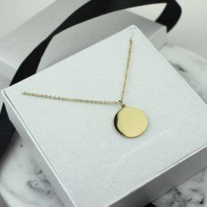 Naszyjnik Celebrytka ze stali chirurgicznej – Złoty Okrągły Klasyczny Naszyjnik
