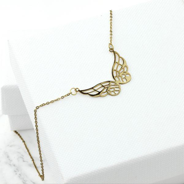 Naszyjnik Celebrytka ze stali chirurgicznej – Złoty Naszyjnik Motyl