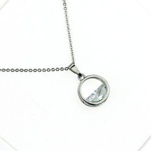 Naszyjnik Celebrytka ze stali chirurgicznej – Srebrny minimalistyczny naszyjnik