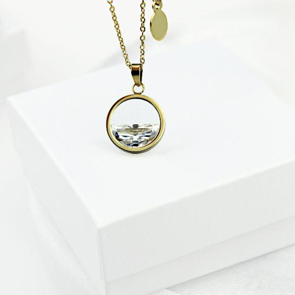 Naszyjnik Celebrytka ze stali chirurgicznej – Złoty Minimalistyczny Naszyjnik