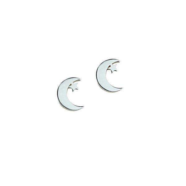 Kolczyki ze stali chirurgicznej – Srebrne Kolczyki Księżyce
