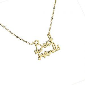 Naszyjnik Celebrytka ze stali chirurgicznej – Złoty Naszyjnik Best Friends Najlepszy Przyjaciel