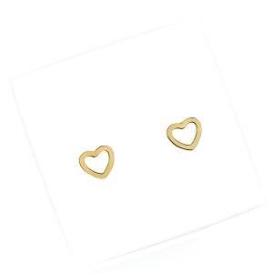 Kolczyki ze stali chirurgicznej – Złote Kolczyki Serca Sztyfty