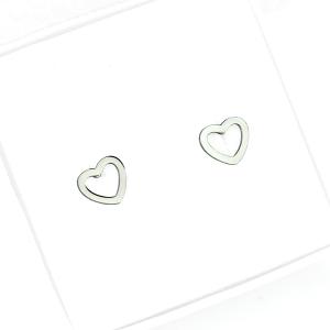 Kolczyki ze stali chirurgicznej – Srebrne Kolczyki Serca Sztyfty