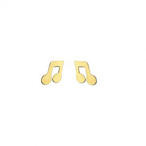 Kolczyki ze stali chirurgicznej – Złote Kolczyki Nutki Muzyka