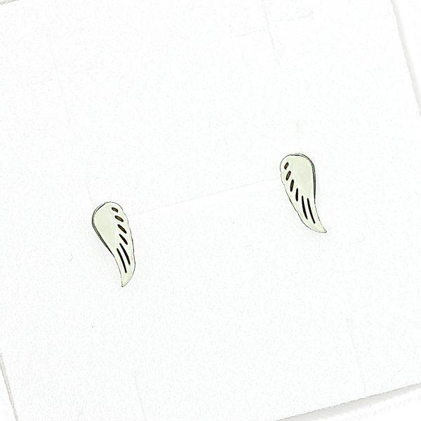 Kolczyki ze stali chirurgicznej – Srebrne Kolczyki Skrzydła